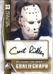 2013-14 Between the Pipes Autographs #ACR2 Curt Ridley