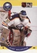 1990-91 Pro Set #25 Clint Malarchuk UER/(Back in action 11 days/after hurt, not 2)