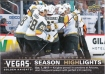 2017-18 Upper Deck Vegas Golden Knights Inaugural #38 First Overtime Victory SH