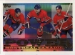 1995-96 Topps Power Lines #9PL Vin Damphousse / Pierre Turgeon / Mark Recchi