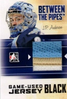 2010-11 Between The Pipes Jerseys Black #M34 J.P. Anderson
