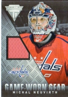 2013-14 Panini Titanium Game Worn Gear #GGMN Michal Neuvirth