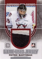 2013-14 Between the Pipes Jerseys Patch Silver #GUM20 Patrik Bartošák