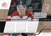 2008-09 SP Game Used Triple Authentic Fabrics Gold #3AFBY Billy Smith